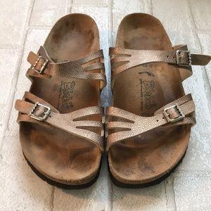Metallic and rhinestone birki's corkbed sandal 39